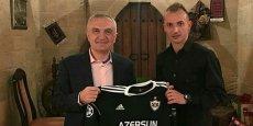 """""""Qarabağ""""ın futbolçusu ölkə prezidenti ilə görüşdü - FOTOLAR"""