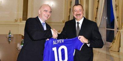 İlham Əliyev FIFA-nın prezidentini və baş katibini qəbul etdi - FOTOLAR