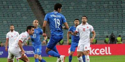 Azərbaycan - Malta oyunu FOTOLARda