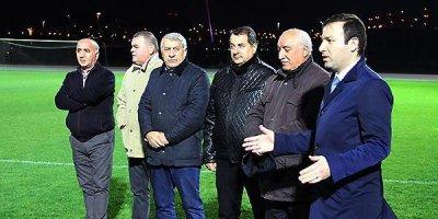 AFFA rəsmiləri yığma ilə görüşdü - FOTOLAR