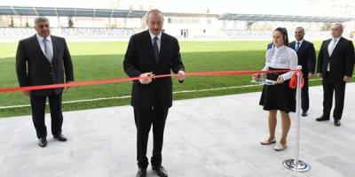 Prezident Beyləqan Olimpiya Kompleksinin açılışında iştirak edib - FOTOLAR