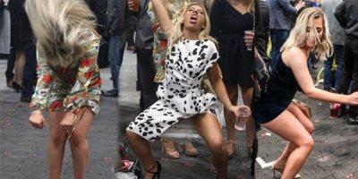 Yarış izləməyə gedən ingilis qadınlar içkinin dozasını qaçırdı - FOTOLAR