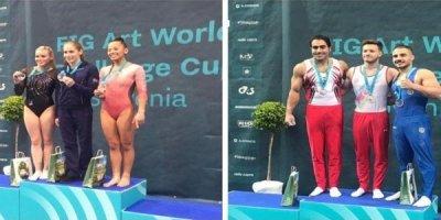 Azərbaycanın iki gimnastı Dünya Kubokunda qızıl medal qazandı