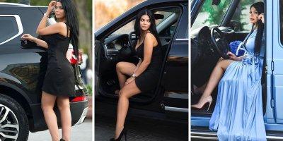 Azərbaycanlı idmançı modelin bahalı avtomobilləri - FOTOLAR