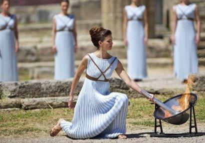 Yay Olimpiya Oyunlarının məşəli yandırıldı - FOTO