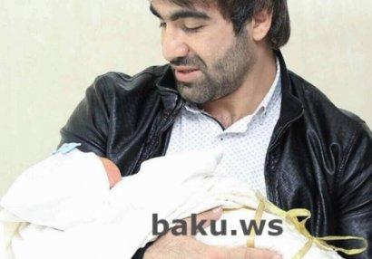 Rafael Ağayevin yeni doğulan oğlunun FOTOSU