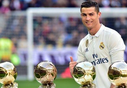 """Ronaldo: """"Yeddi uşaq, eyni sayda da """"Qızıl top"""" istəyirəm"""""""