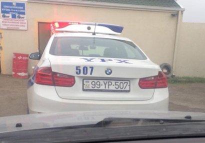 Yol polisi Azərbaycan yığmasının üzvlərini saxladı (FOTO/VİDEO)