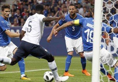 Fransadan İtaliyaya 3 qol - VİDEO
