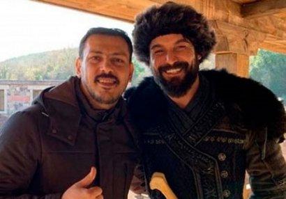 """Zabit Səmədov """"Diriliş Ertuğrul""""un çəkiliş meydanında - FOTOLAR"""