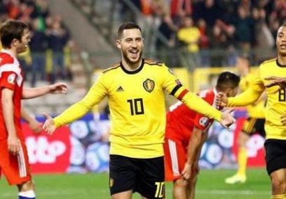 Belçika - Rusiya oyununda 4 qol - VİDEO