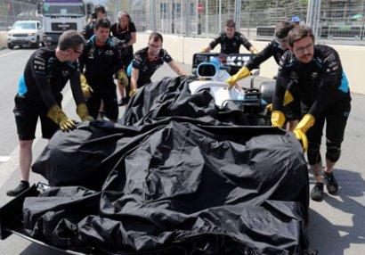 """""""Formula 1""""də qəzanın günahkarı bilindi: Dəymiş ziyanı onlar ödəyəcək - VİDEO"""