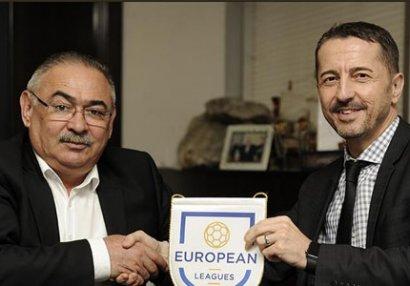 Ramin Musayev Avropa Futbol Liqalarının baş katibi ilə görüşdü - FOTOLAR