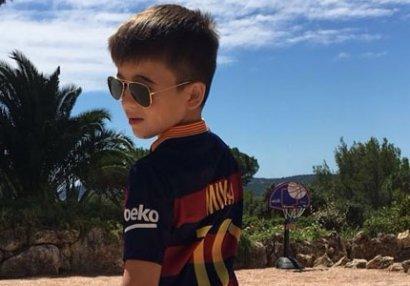 İlham Əliyevin nəvəsi ulduz futbolçu ilə bir arada - FOTO