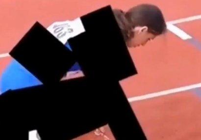 İran telekanalı yüngül atletika yarışını belə təqdim edib - VİDEO