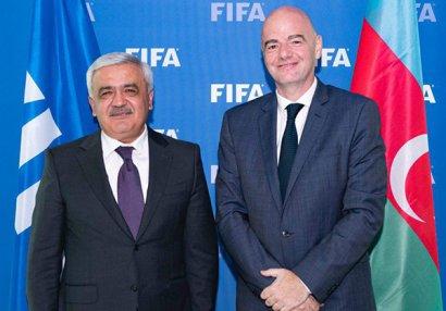 AFFA və FİFA prezidentləri görüşüb - FOTOLAR