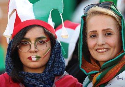 İranda xanım azarkeşlər stadiona buraxıldı - FOTOLAR