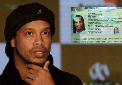 Ronaldinyo saxta pasportla saxlanıldı