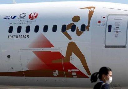 Японский самолет прилетел в Грецию за олимпийским огнем