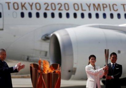В Японию доставили из Греции олимпийский огонь