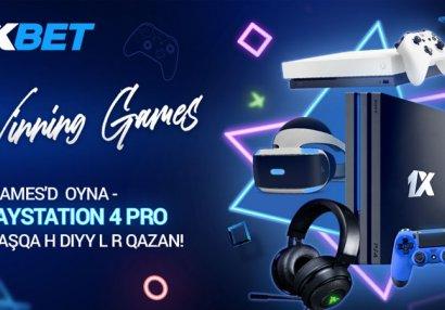 1xBet'in yeni Winning Games aksiyasında PlayStation 4 Pro qazanın!