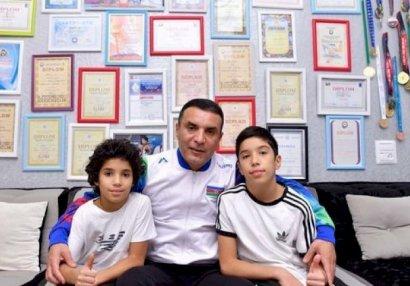 Azərbaycan çempionu iki oğlu ilə birlikdə karantinə alındı