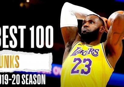 NBA-da mövsümün 100 ən yaxşı dankı - VİDEO
