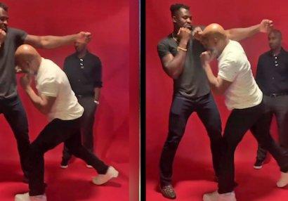 Mayk Tayson UFC döyüşçüsünə məşq keçdi - VİDEO