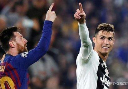 Роналду и Месси возглавили сборную Лиги чемпионов всех времен