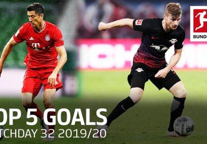 Bundesliqada 32-ci turun ən yaxşı 5 qolu - VİDEO