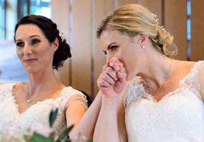 Azərbaycan çempionatının mükafatçısı həmcinsi ilə evləndi - FOTOLAR