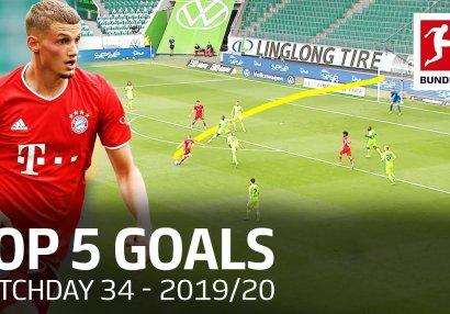 Bundesliqa: Son turun ən yaxşı 5 qolu - VİDEO