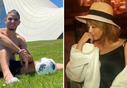 Aygün Kazımovanın qızı braziliyalı futbolçu ilə əylənir - VİDEO