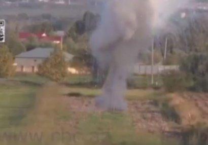 Bu da ermənilərin fosfor bombası atdığının sübutu - VİDEO