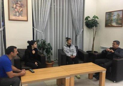 Sadıq Sadıqov idmançılarla görüşdü