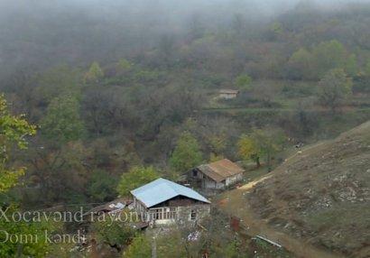 Xocavəndin işğaldan azad olunan Domi kəndinin görüntüləri - VİDEO