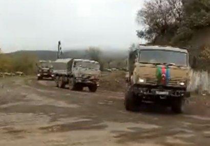Ordumuzun hərbi korteji Dağlıq Qarabağ ərazisindən keçdi - VİDEO