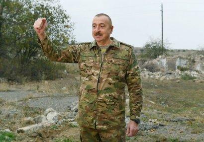Prezident məhv edilmiş Ermənistan ordusunun texnikalarının sayını açıqladı
