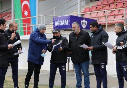 """""""Qarabağ"""" Ağdamda futbolçu seçir - FOTOLAR"""