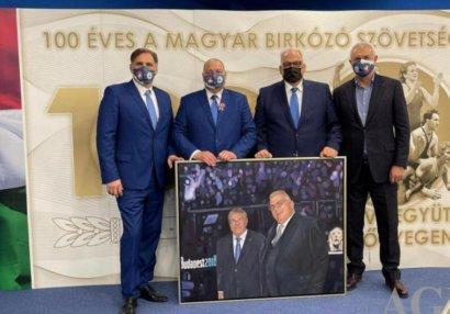 Namiq Əliyev Macarıstan Güləş Federasiyasının yubileyində iştirak edib