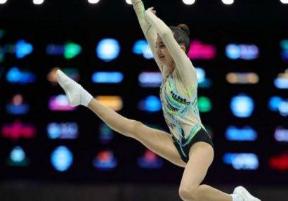 Gimnastımız bürünc medal qazandı - VİDEO