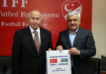 AFFA və TFF prezidentləri görüş keçirdi - FOTOLAR