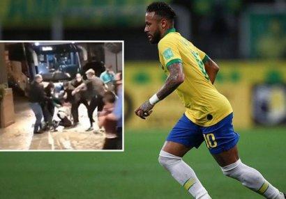 Millinin düşərgəsində Neymara hücum edildi - FOTO/VİDEO
