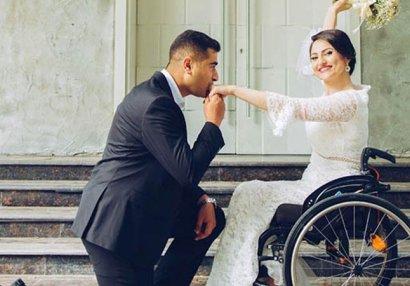 Paralimpiyaçımız Vətən Müharibəsi iştirakçısıyla evləndi - FOTOLAR