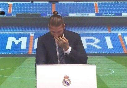Ramos göz yaşlarını saxlaya bilmədi