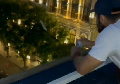 Eyvandan pul səpən məşhur cüdoçumuzla bağlı rəsmi açıqlama - VİDEO