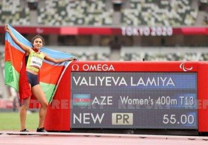 Tokio 2020: Lamiyə Vəliyeva rekordla Paralimpiya çempionu oldu