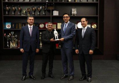 Fərid Qayıbov Cüdo Federasiyasının fəaliyyəti və Bakı Olimpiya Stadionu ilə tanış oldu