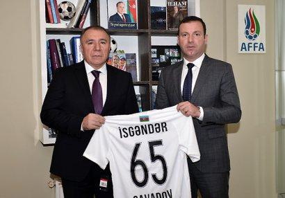 AFFA Cavadovu təbrik etdi