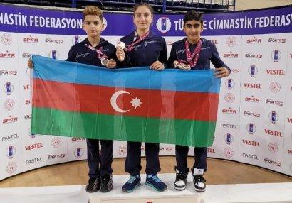 Azərbaycan gimnastları Türkiyədə 4 medal qazanıblar